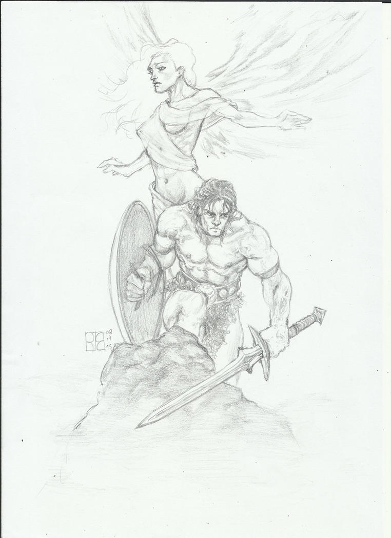 Warrior and Angel by shurita