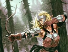 Elf archer by shurita