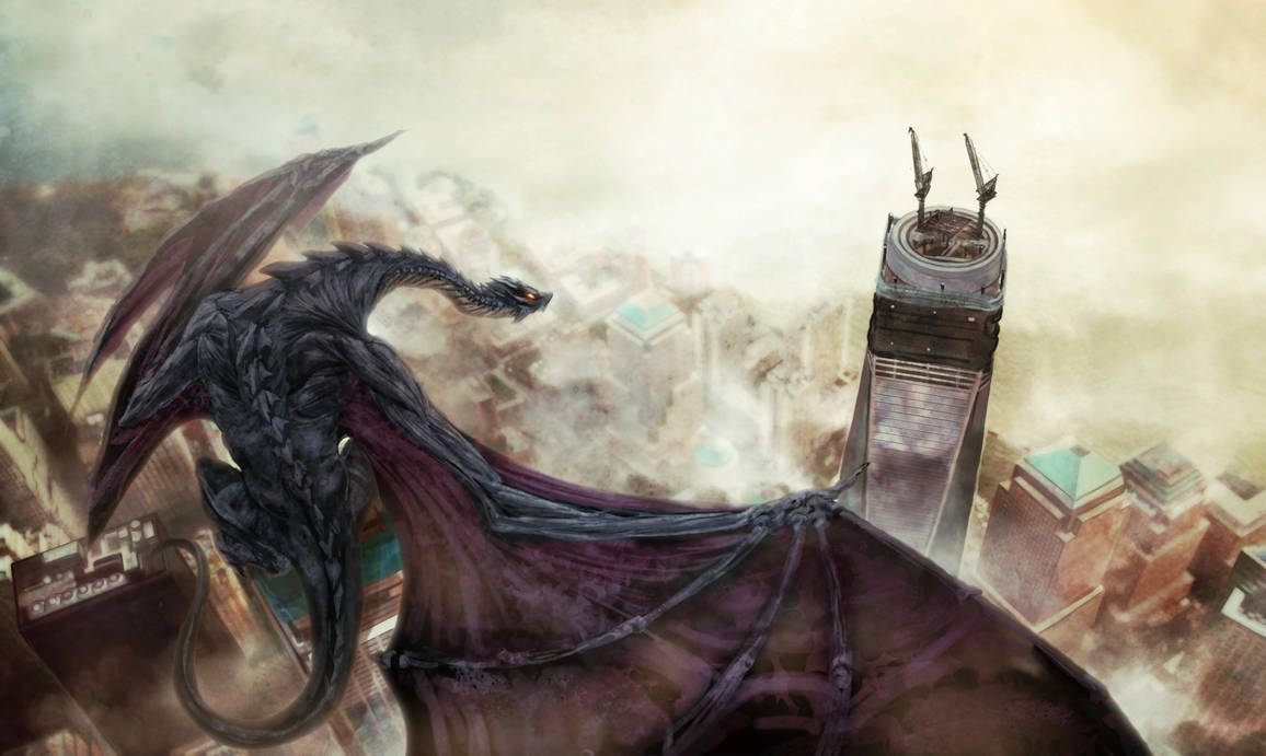 Dragon at Freedom Tower by shurita