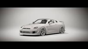 Racing Nissan GT-R Clay