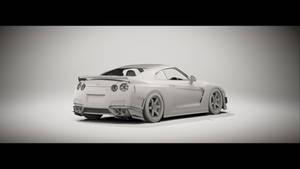 Racing Nissan GT-R Clay 2