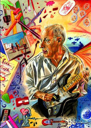 David Gilmour by ZuzanaGyarfasova