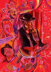 Carlos Santana by ZuzanaGyarfasova