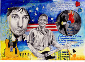 Bruce Springsteen Portrait by ZuzanaGyarfasova