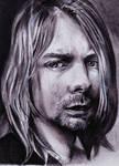 Kurt Cobain Portrait by ZuzanaGyarfasova