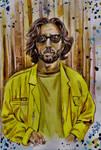 Eric Clapton Portrait water colour by ZuzanaGyarfasova