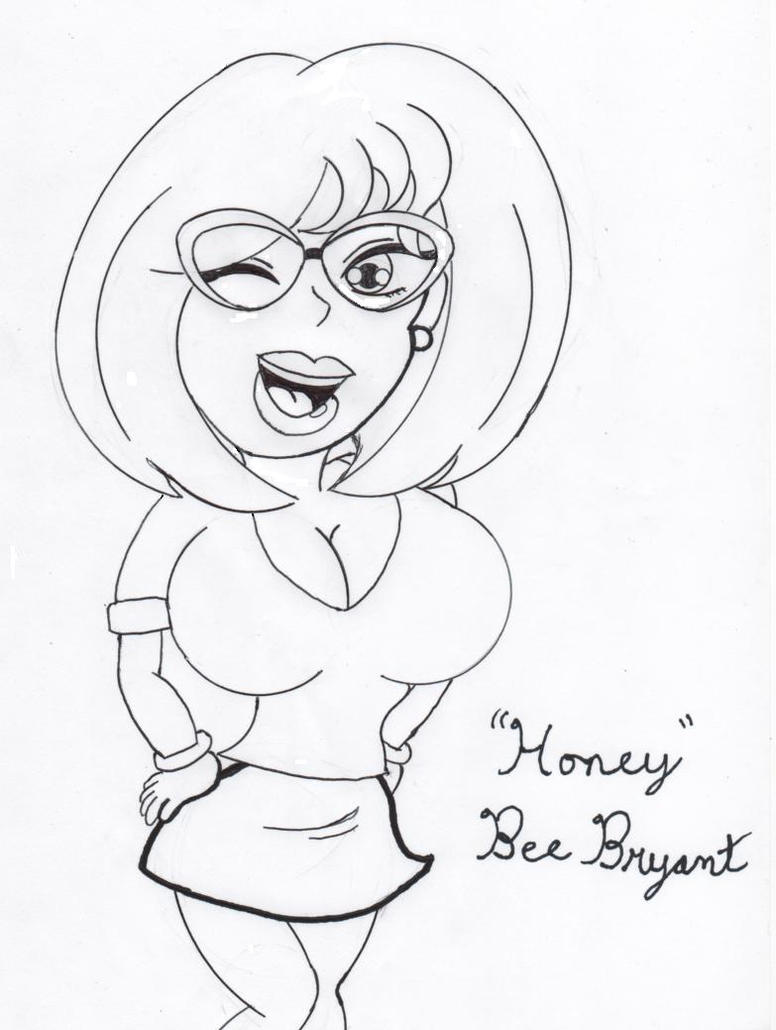 Honey Bee Bryant Coloring Page By Ninjasonic On Deviantart Bryant Coloring Pages