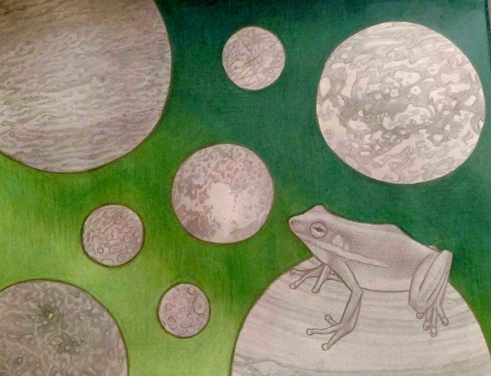 Space Frog by LadyFarthington