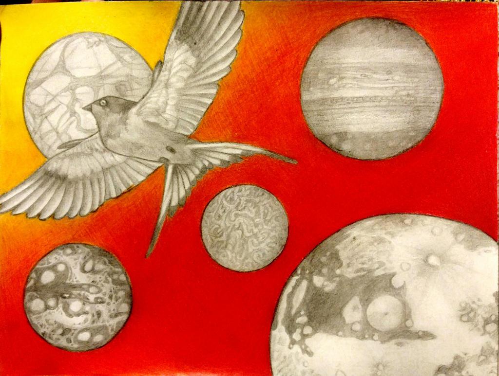 Space Swallow by LadyFarthington