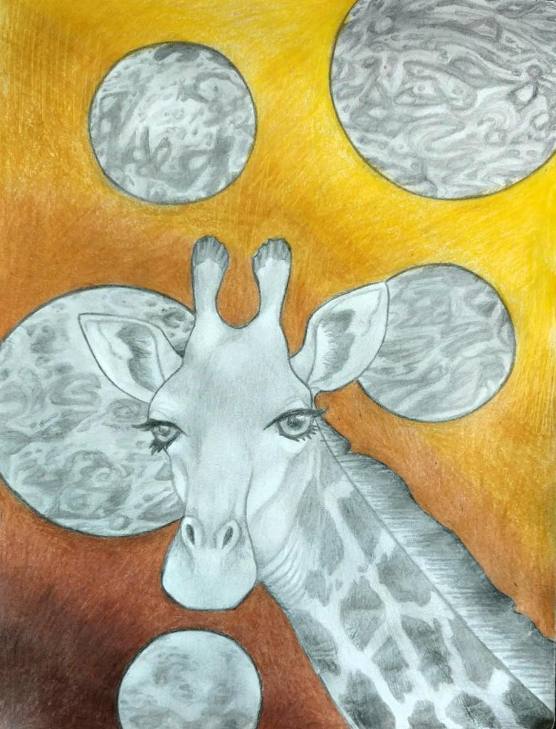 Space Giraffe by LadyFarthington