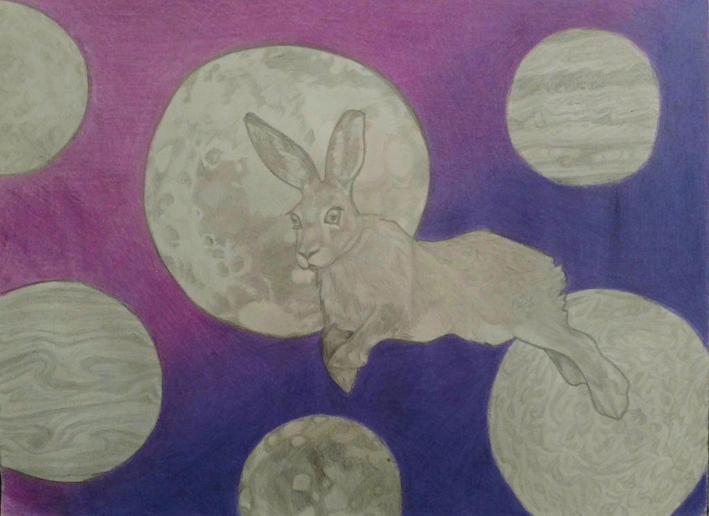 Space Bunny by LadyFarthington