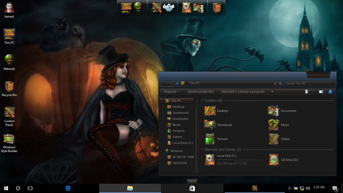 Halloween On Win10 by hs1987