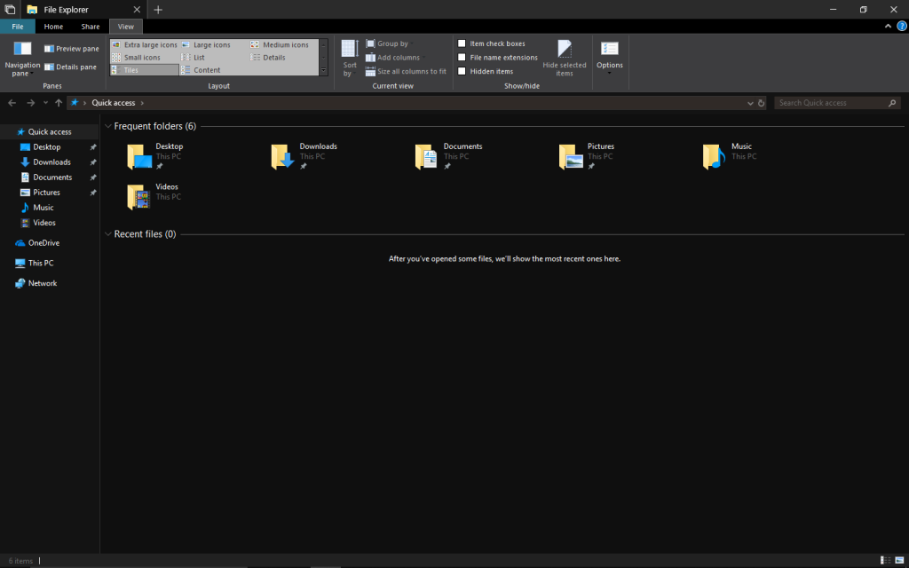 Windows 10 RS5 dark theme by hs1987