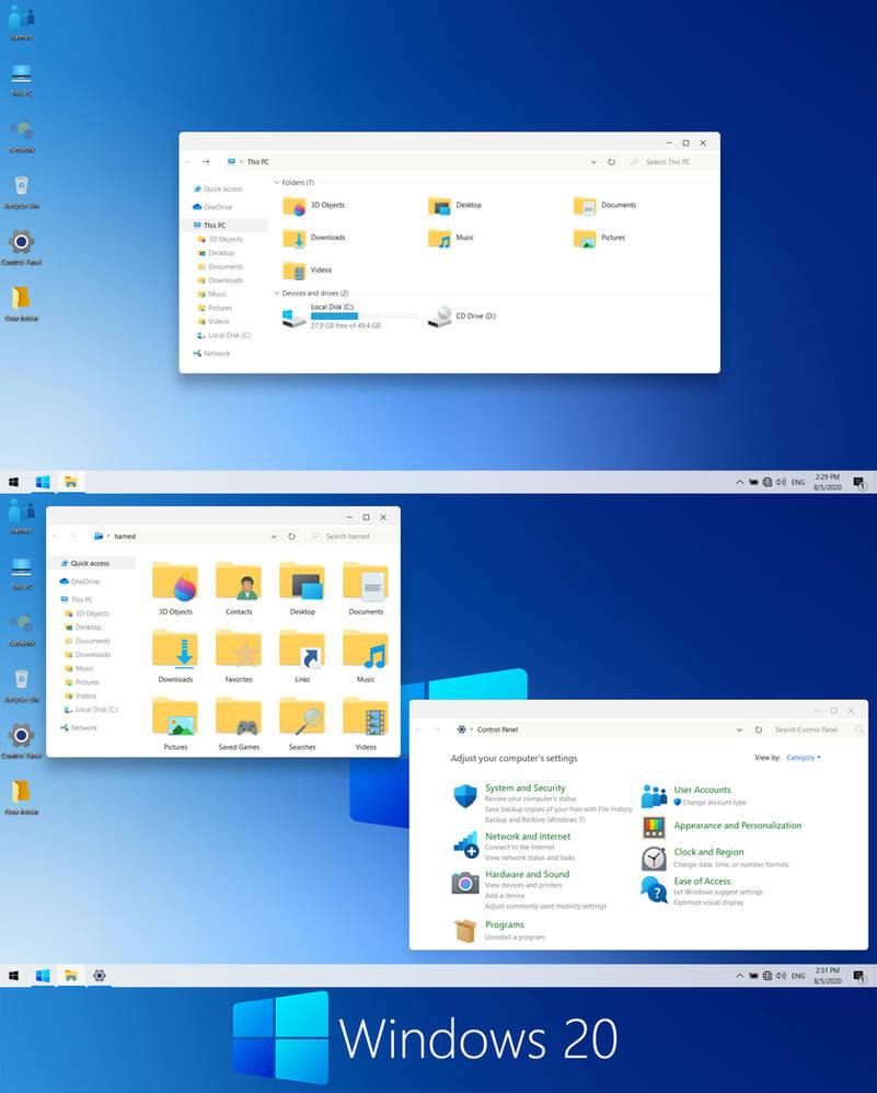 Windows 20 theme for Windows 10