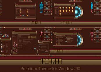 Iron Man Permium Theme for Windows 10 by protheme