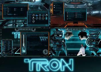 Tron Legacy Permium Theme for Windows 10 by protheme