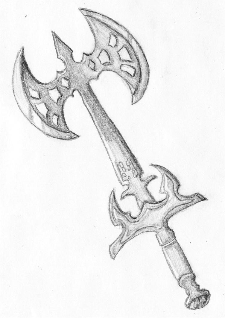 Medieval Battle Axe Drawing Cool Battle ax