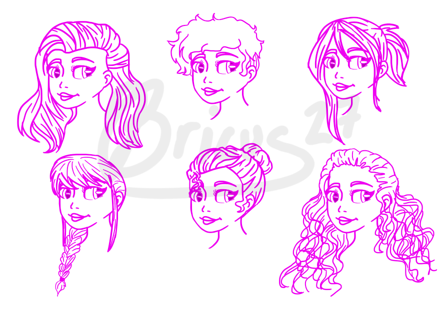 Random Hairstyles by Bricus27