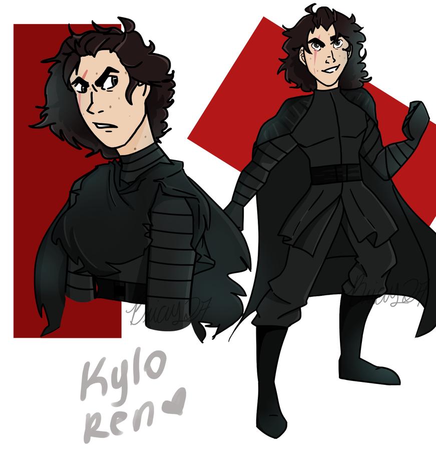 Kylo Ren sketches by Bricus27