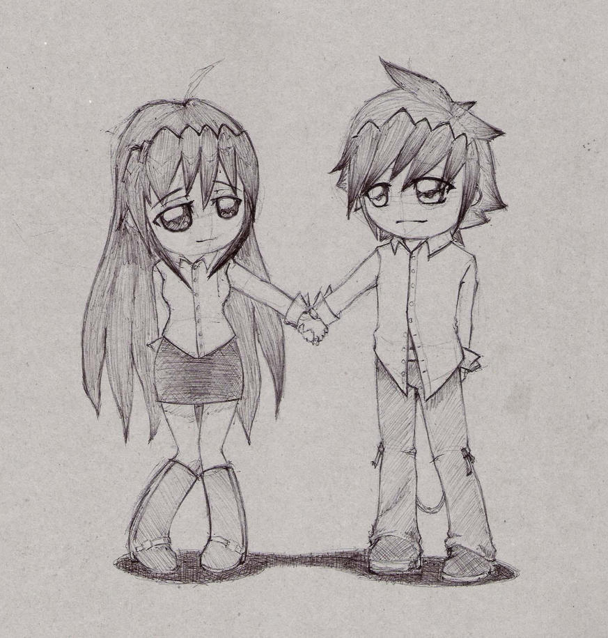 chibi couple by ouroborus22 on DeviantArt
