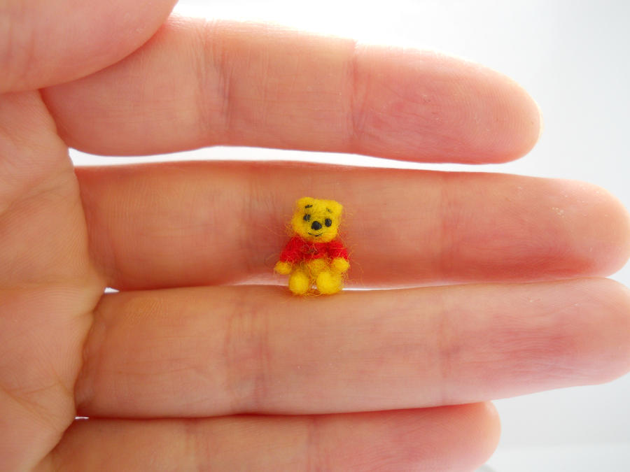 ooak micro miniature winnie the pooh jointed bear by tweebears