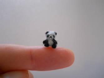 Ooak miniature micro jointed teddy bear panda by tweebears