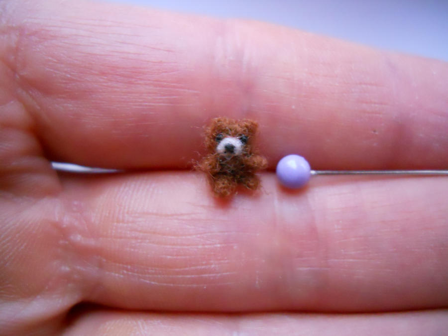 OOAK miniature teddy bear jointed micro bear by tweebears