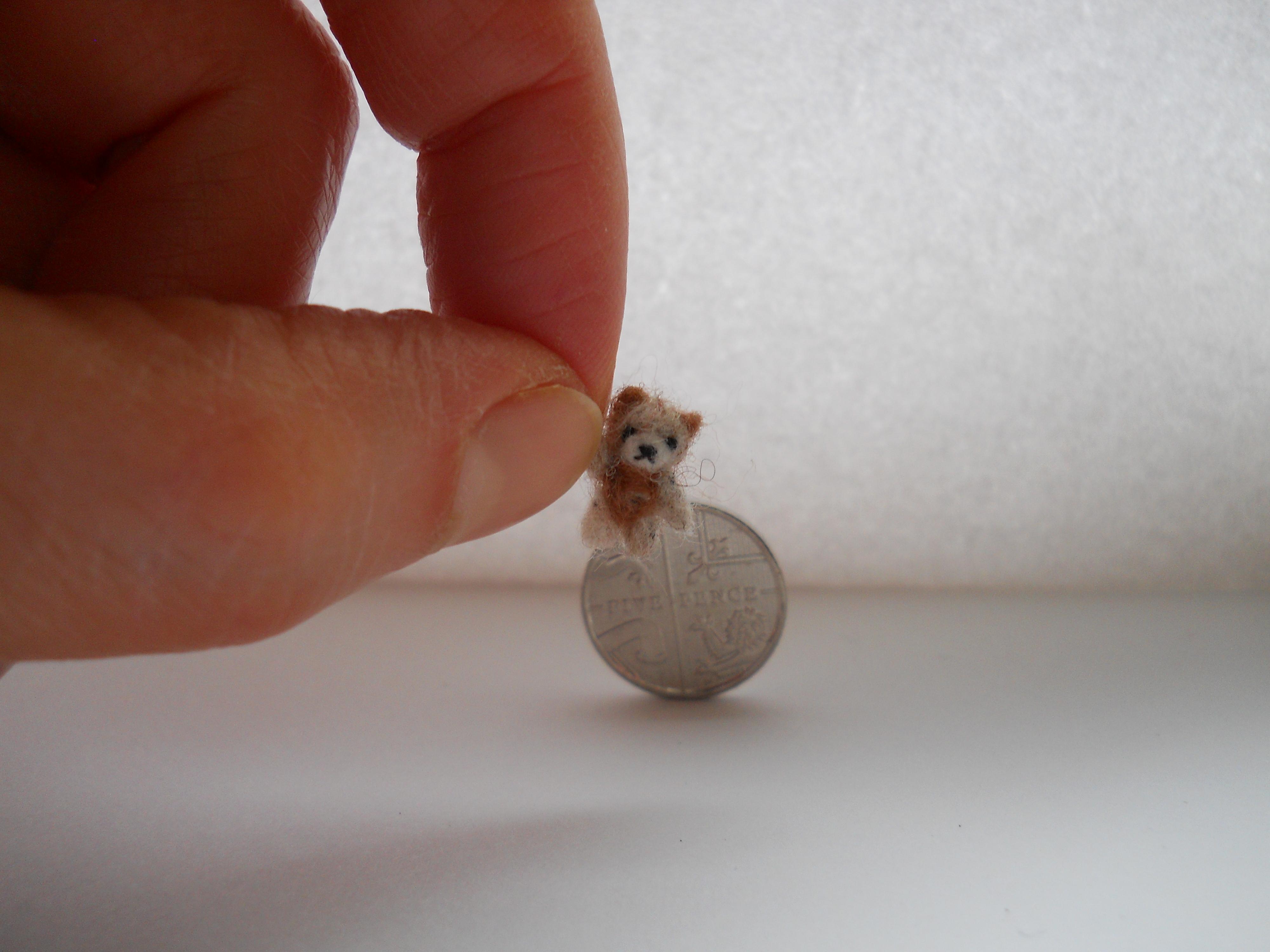 miniature ooak micro jointed teddy bear by tweebears