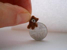Ooak miniature micro jointed teddy bear
