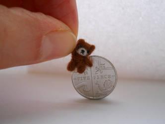 Ooak miniature micro jointed teddy bear by tweebears