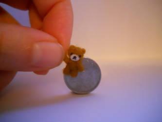 OOAK miniature micro cute jointed bear by tweebears