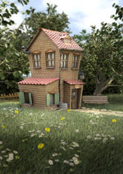 Toon House by ginuea