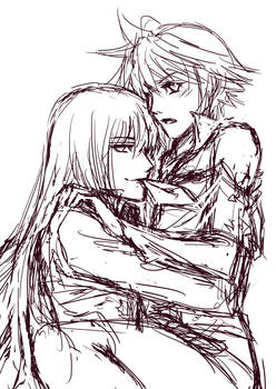 OC Sketch - Spenser and Chaos