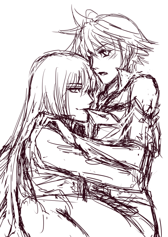 OC Sketch - Spenser and Chaos by chantilin