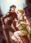 Hero and Bard by chantilin