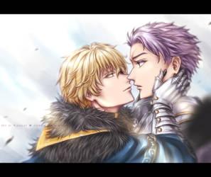 Gawain x Lancelot by chantilin
