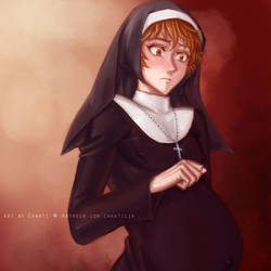 Mpreg Nun [Censored Ver] by chantilin