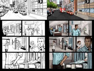 Color Sample ofthe Comic Book: Dorian Grey #4 pg12 by MariaSantaolalla