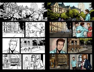 Color Sample ofthe Comic Book: Dorian Grey #4 pg13 by MariaSantaolalla