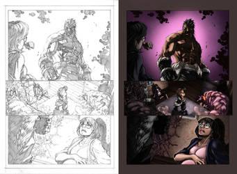 Inhuman Color Sample 1 pg 15 by Maria Santaolalla by MariaSantaolalla