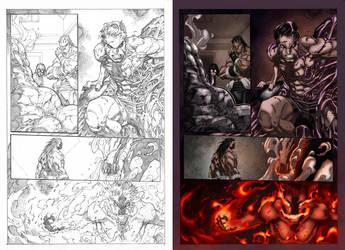 Inhuman Color Sample 1 pg 16 by Maria Santaolalla by MariaSantaolalla