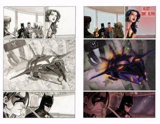 Color sample Superman Batman page14 by MariaSantaolalla