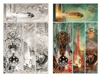 Color sample Superman Batman page18 by MariaSantaolalla