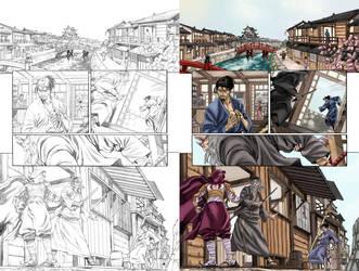 COLOR SAMPLE G.I.JOE AND SNAKE EYES PAGE 28 by MariaSantaolalla