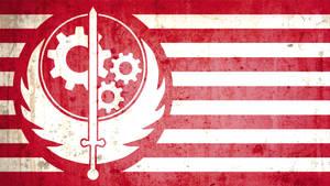 Brotherhood of Steel flag grunge version