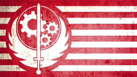 Brotherhood of Steel flag grunge version