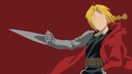 Edward Elric Wallpaper Dark Red Version