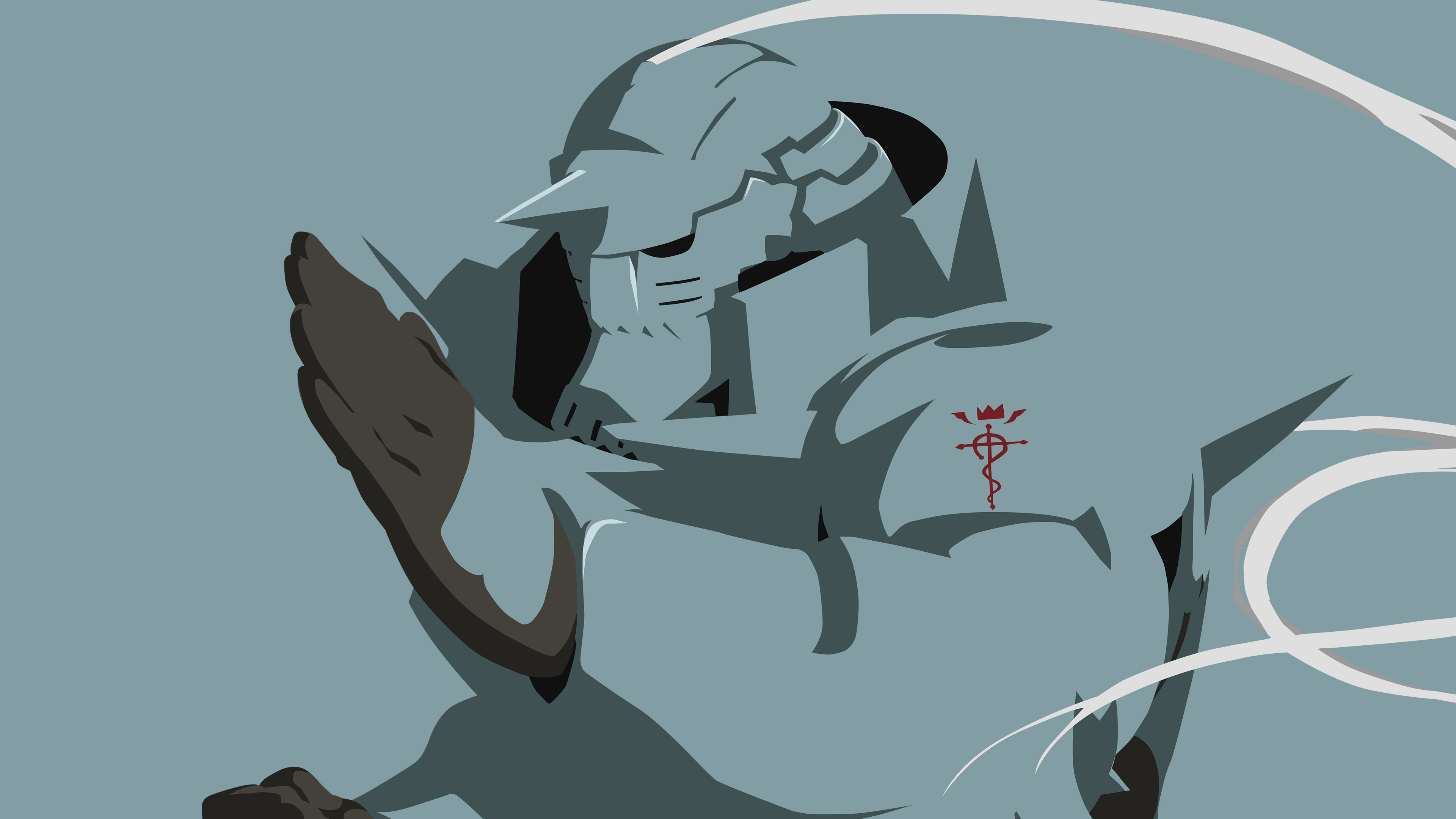 Alphonse Elric Simplified Wallpaper Light Blue V By Tonyp2121 On