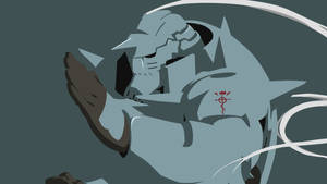 Alphonse Elric Simplified Wallpaper Dark Blue V Z
