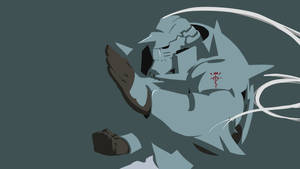 Alphonse Elric Simplified Wallpaper Dark Blue V